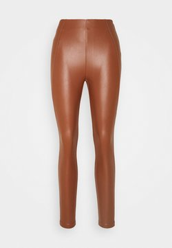 Vila - VIANNAS COATED - Leggings - Hosen - tortoise shell