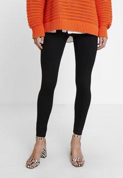 Esprit - PUNTO PANT - Leggings - Hosen - black