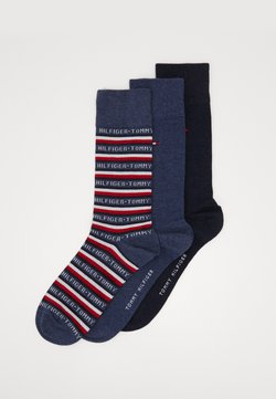 Tommy Hilfiger - MEN SOCK LOGO GIFTBOX 3 PACK - Socken - dark blue/red