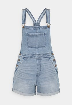 Hollister Co. - SHORTALL MEDIUM CLEAN - Dungarees - light blue denim