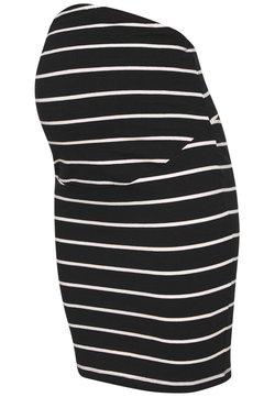 Anna Field MAMA - Falda de tubo - black off-white
