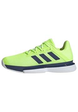adidas Performance - SOLEMATCH BOUNCE HARD COURT SHOES - Tennisschuh für Sandplätze - green