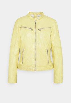 Gipsy - CHARLEE LAORV - Leren jas - pastel yellow