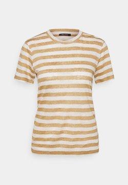Marc O'Polo - SHORT SLEEVE ROUND NECK SLIM FIT STRIPED - T-Shirt print - mutli/sandy beach