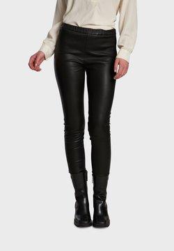 Oakwood - CASSIOPEE - Pantalon en cuir - black