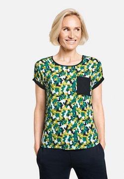 Gerry Weber - MIT BLUMIGEM MUSTER - T-Shirt print - grün/blau druck