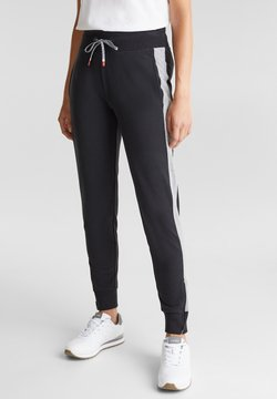Esprit Sports - MIT SAUMZIPPERN - Jogginghose - black