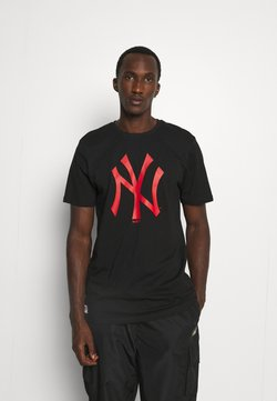 New Era - MLB NEW YORK YANKEES SEASONAL TEAM LOGO TEE - Vereinsmannschaften - black