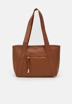Anna Field - LEATHER - Shopping Bag - cognac