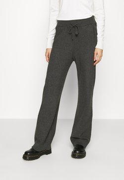 Vila - VIRIL STRAIGHT PANTS - Jogginghose - dark grey melange