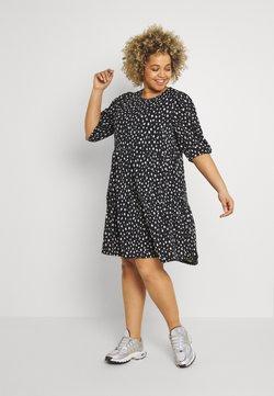 ONLY Carmakoma - CARPELLY PEPLUM DRESS PLUS - Vestido informal - black