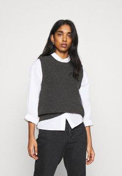 ONLY - ONLPARIS LIFE VEST - Sweter - dark grey melange
