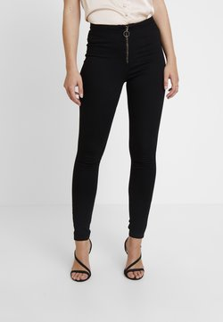 Missguided - RING ZIP OUTLAW - Jeggings - black