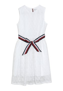 Tommy Hilfiger - STRIPE DRESS  - Cocktailkleid/festliches Kleid - white