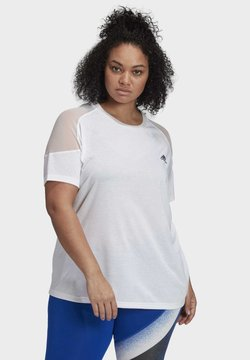adidas Performance - UNLEASH CONFIDENCE T-SHIRT (PLUS SIZE) - Camiseta estampada - white
