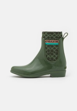 Coach - RIVINGTON RAIN BOOTIE - Wellies - bronze/green