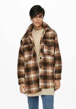 ONLY - ONLALLISON CHECK - Klasyczny płaszcz - pumice stone