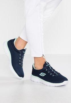 Skechers Wide Fit - SUMMITS - Sneakers laag - navy/aqua