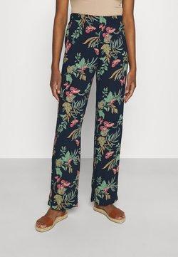 Vero Moda - VMSIMPLY EASY WIDE PANT - Pantalon classique - navy blazer