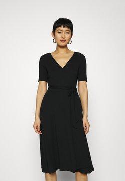 GAP - WRAP MIDI - Jerseyklänning - true black