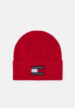 Tommy Jeans - HERITAGE BEANIE - Lue - red