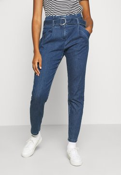 Vero Moda - VMBAILEY PAPERBAG BELT - Jeans Relaxed Fit - medium blue denim