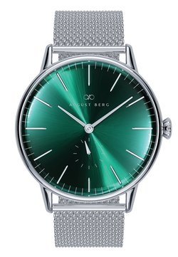 August Berg - UHR SERENITY GREENHILL SILVER EYE SILVER MESH 40MM - Montre - sunray green