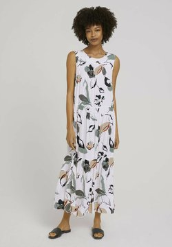 mine to five TOM TAILOR - Maxikleid - offwhite blue floral design