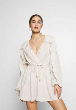 Nly by Nelly - BOHO FRILL PLAYSUIT - Combinaison - beige