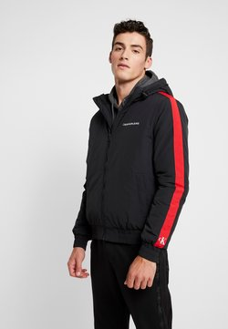 Calvin Klein Jeans - PADDED JACKET - Winterjacke - black/racing red