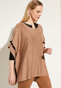 comma - MIT KONTRAST-STREIFEN - Cape - camel melange