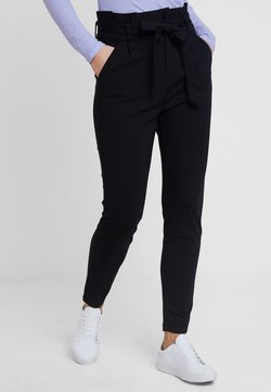 Vero Moda - VMEVA LOOSE PAPERBAG PANT - Stoffhose - black