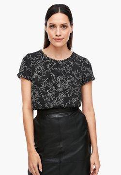 s.Oliver BLACK LABEL - Bluse - black flowers print