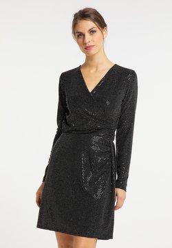 usha - Bluse - schwarz silber