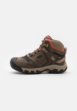 Keen - RIDGE FLEX MID WP - Hikingschuh - timberwolf/brick dust