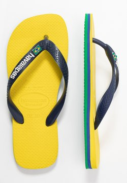 Havaianas - BRASIL LAYERS UNISEX - Teenslippers - citrus yellow