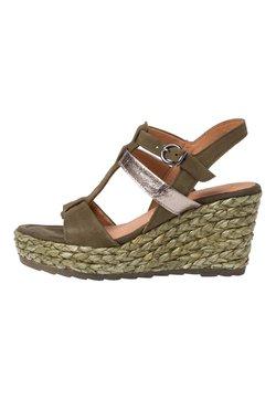 Marco Tozzi - Korolliset sandaalit - khaki comb