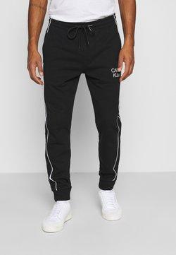 Calvin Klein - TWO TONE LOGO PANT - Verryttelyhousut - black