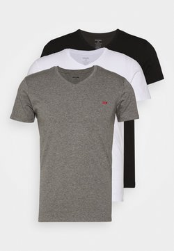 Diesel - UMTEE-MICHAEL 3 PACK - Unterhemd/-shirt - black/white/grey