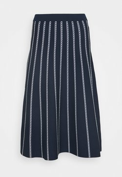 MICHAEL Michael Kors - CHAIN SKIRT - A-Linien-Rock - dark blue