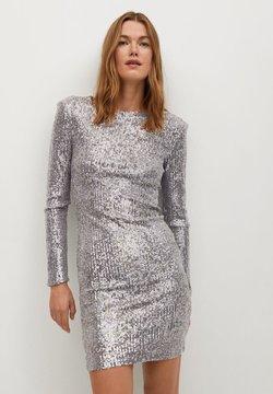 Mango - LENJUELA - Cocktailkleid/festliches Kleid - zilver