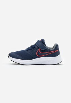 Nike Performance - STAR RUNNER 2 UNISEX - Hardloopschoenen neutraal - midnight navy/bright crimson/smoke grey/black