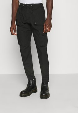 INDICODE JEANS - COURTNAULD - Cargo trousers - black