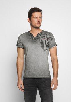 Key Largo - MOTORS BUTTON - T-shirt print - anthra