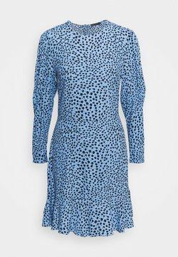 Marks & Spencer London - SPOT PUFF MINI - Kjole - blue