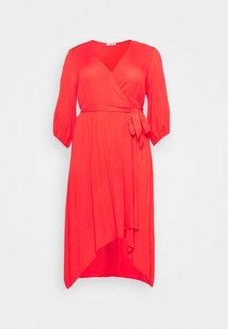 Simply Be - CRINKLE DRESS - Maxikleid - coral