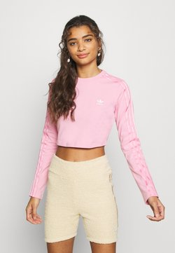 adidas Originals - CROP - Langarmshirt - lightpink