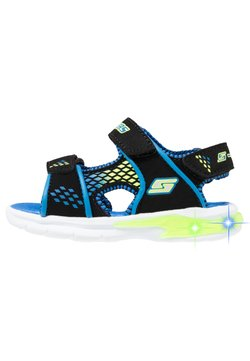 Skechers - E-II BEACH GLOWER - Trekkingsandale - black/blue/royal/lime