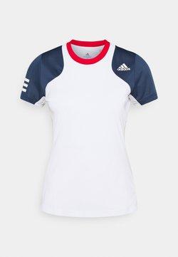 adidas Performance - CLUB TEE - T-shirt med print - white