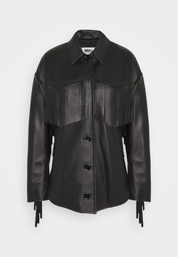 MM6 Maison Margiela - Leather jacket - black